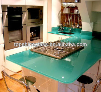 Toughened glass worktop with AS/NZS 2208:1996 and EN12150 certificate
