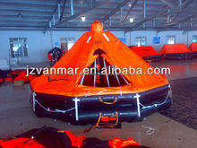 canopied reversible inflatable liferaft
