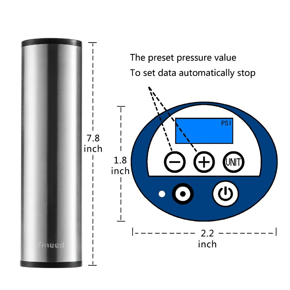 beautiful concise electronic 12 volt Tire Pressure Detection digital tire inflator electric balloon pump tire inflator