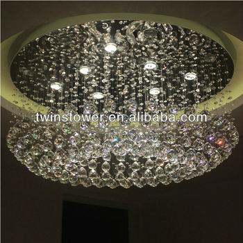 large crystal ball chandelier light for hotel lobby