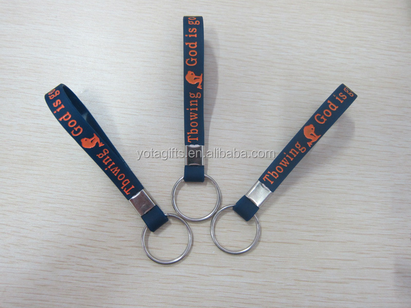 Promotional silicone keychain