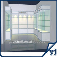 2013 New Type Titanium Alloy Square Display Glass Cabinet/Glass Display Case
