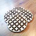 Natural laser cut wood coasters coasters for drink wedding decoration