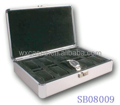 aluminum watch box wholesale for 10 watches