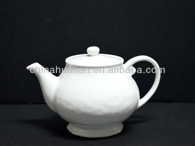 1280cc high temperature white porcelain tea pot