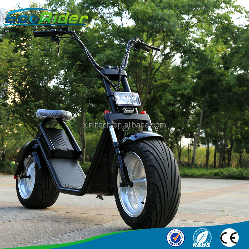 18 inch 60v 1200w electric scooter with fat tyre/cheap chopper ebike/beach cruiser electric