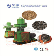 Large capacity machines for making pellets for burning wood