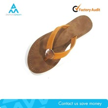Summer factory cheap manufacture brown wholesale rhinestone flip flop