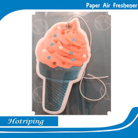 Hanging paper car air freshener with long-lasting smell