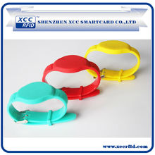 Popular! Logo Printed Silicone RFID Wristbands