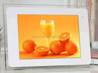 "Popular item 10"" digital photo frame with acrylic frame with large size, photo frame with battery"