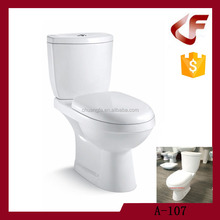Bathroom design bedroom washdown flushing two-piece toilet