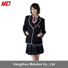 Korea Japan High School Design Uniform with Neck Tie