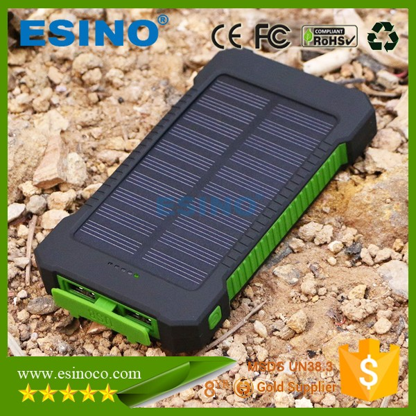best dual usb portable solar panel power bank cellphone charger