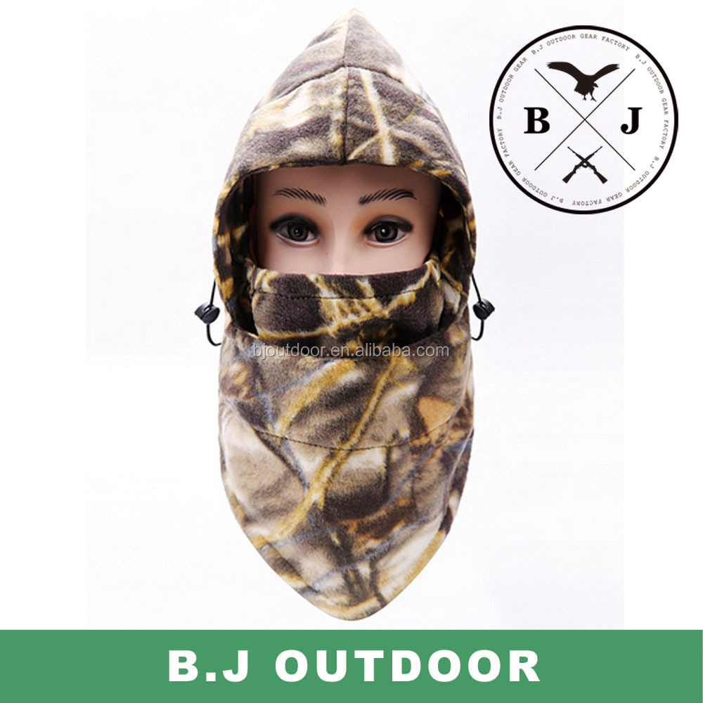 Hunting warm camo hat winter hat fleece hat from BJ Outdoor