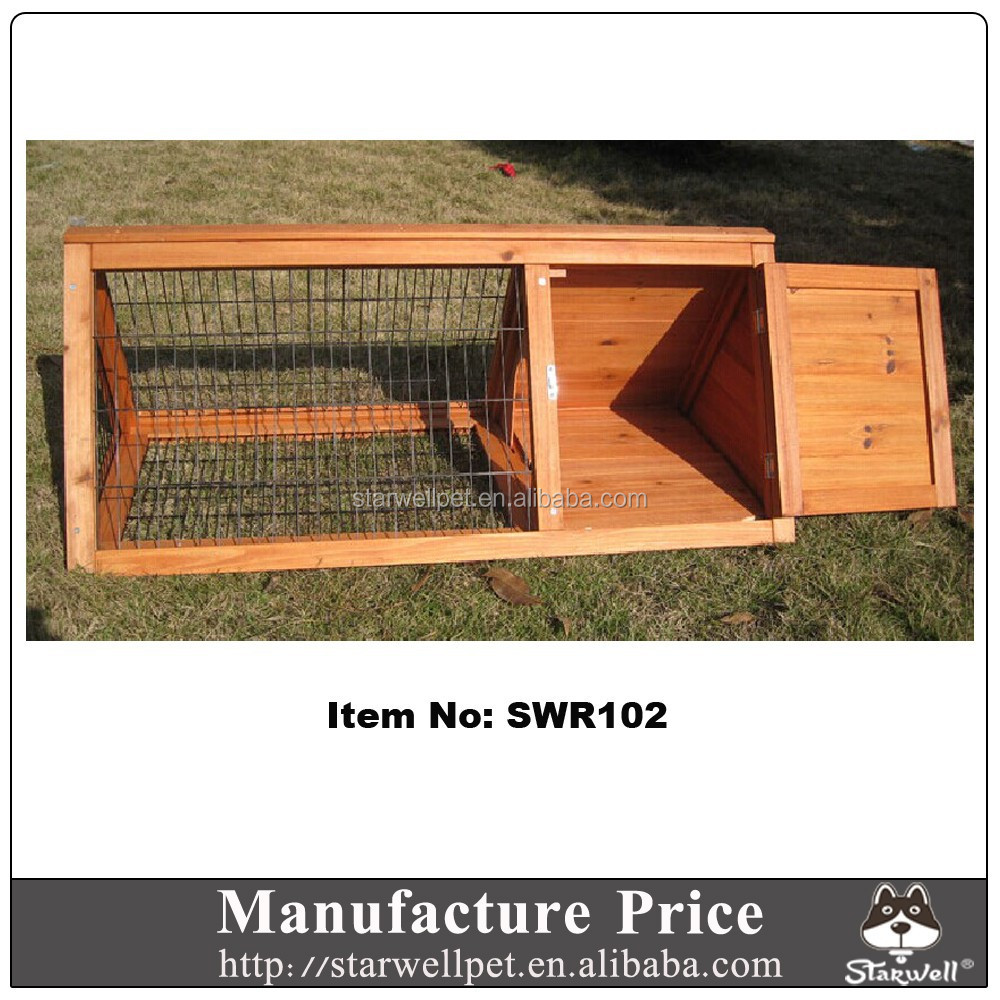 Factory export directly cheap custom wooden rabbit hutch house