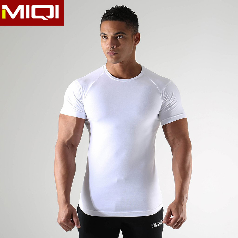 OEM Customized Mens Gym Wear Dry Fit T Shirt Men's Sports Breathable Mens Gym T Shirt