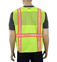 Pen pocket 3m safety reflective vest / Safety Class 2 Deluxe Safety Vest | Running Motorcycle Construction Traffic