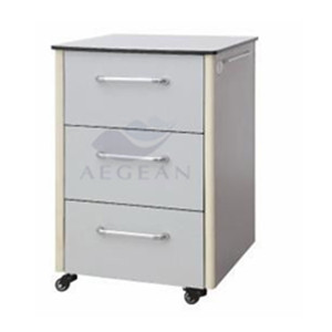 Manufacturer hospital medicine cabinet with three drawers handle