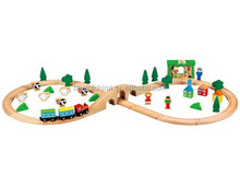 New Children Wooden Toy Train set,Quality Kids Wooden Train Toy, Hot sale best toy from sky-blue