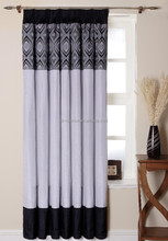 black and white patterned curtains black blackout curtains from china supplier