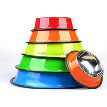 high quality colorful water pet products stainless steel dog bowl
