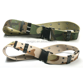 Camouflage Tactical Military Combat Belt for Outdoor Belt with Plastic Buckle