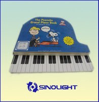 High Quality Hardcover Book Printing Children Piano Music Books Customizable Sounds Book For Kids Factory OEM