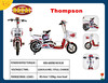 Thompson Cheap electric bike,electric mini cross bike,lowest price pocket bike wholesale