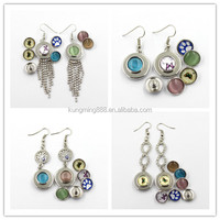 925 Silver DIY Snap Button Metal Earring Wholesale