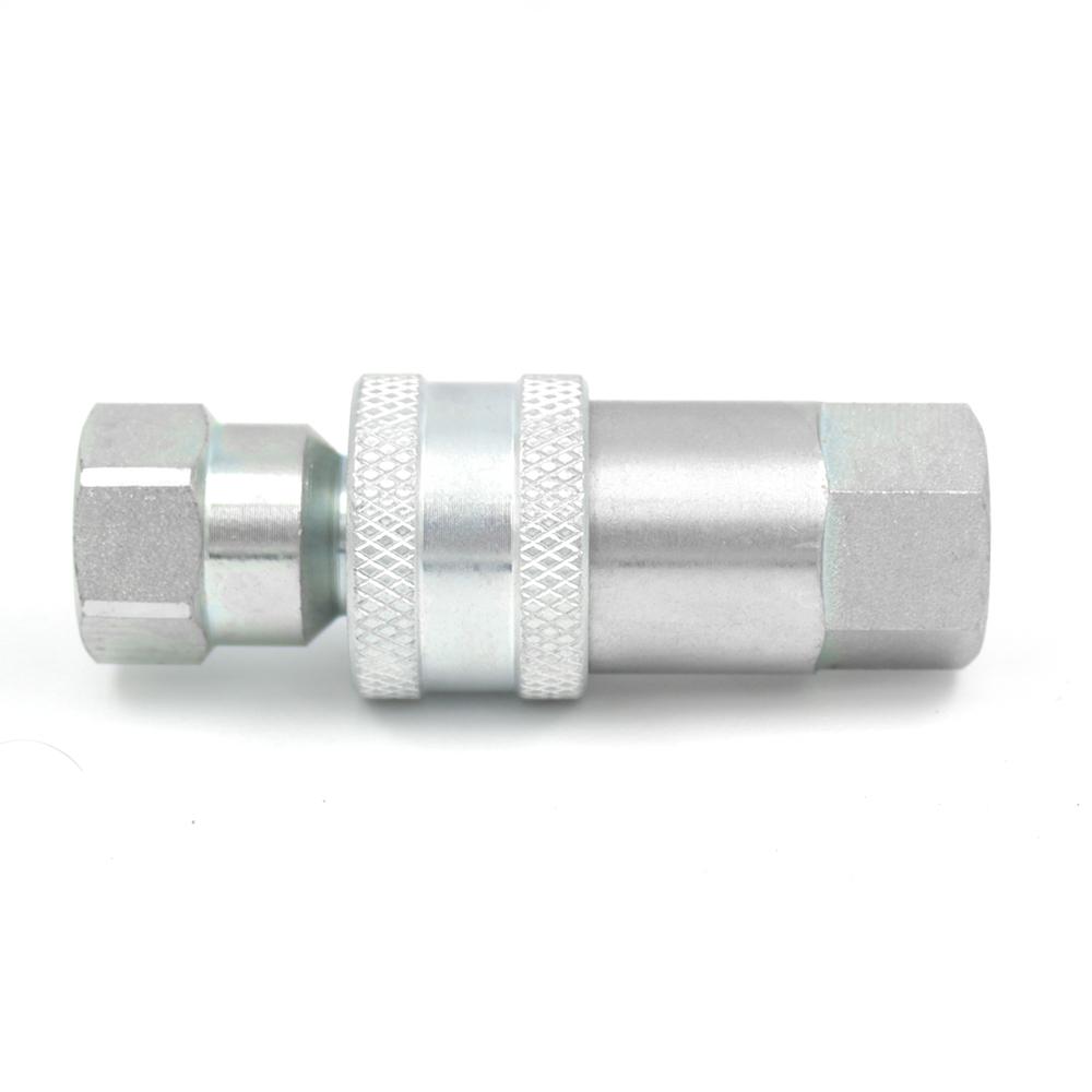 """2 conjuntos 1//4/"""" ISO-B Manguera Hidráulica acopladores de Desconexión rápida Plug ISO 7241-1 B"""