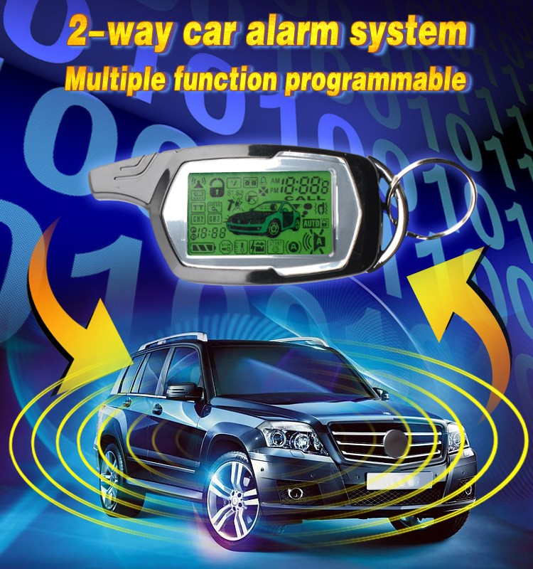 Russia Ukraine market middle level two way car alarm system LCD remote control