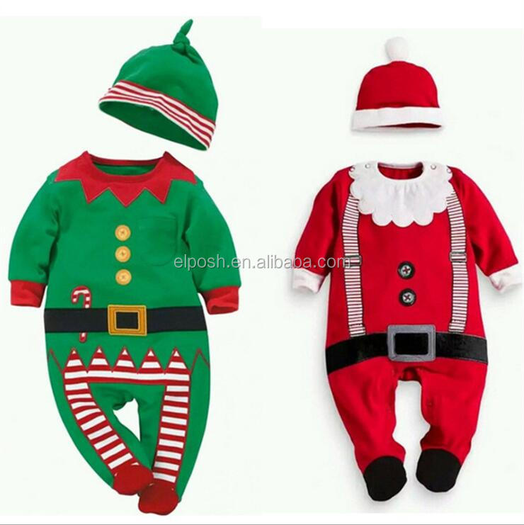 Wholesale Christmas Romper Jumpsuit Baby Boy Clothes