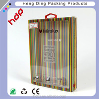 Soft crease clear plastic PVC folding box for electronic