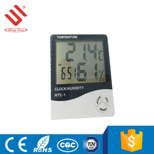 Easy to read large display indoor wall clock multi digital thermometer
