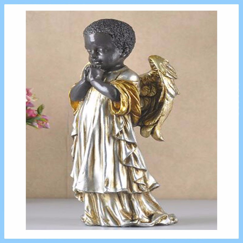 EXW High Quality China Supplier Resin Black Angel Statue For home decor