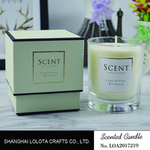 luxury scented candles in glass jar for decoration