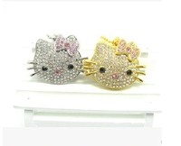 Jewelry cat USB Drive, Crystal Hello K USB 8G/16G/32G/64G, Metal Necklace Gift Pen Drive Flash