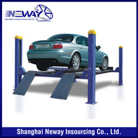 High quality wheel alignment four post lift / hydraulic 4 post auto lift