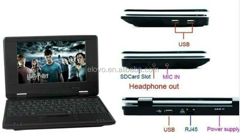 inventory 7inch VIA WM8650 android 2.2 best low price laptop made in china