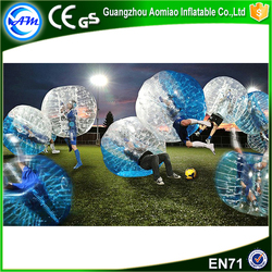 High quality Half blue TPU giant inflatable clear ball,bubble ball for sale