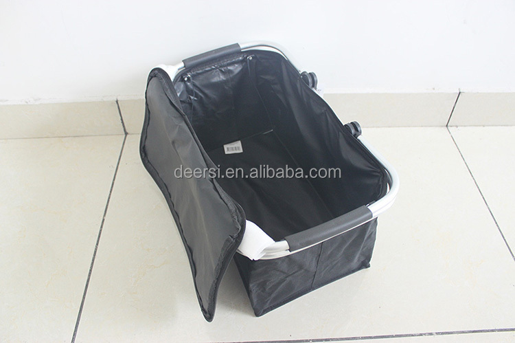 2015 factory price hot sale collapsible shopping basket with cover