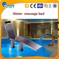 New Type Stainless Steel 304 Water Massage Chair and Bed for Spa Pool