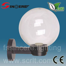 outdoor white Plastic or PMMA wall ball light globe fitting