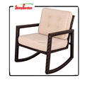 High quality Modern With Cushion Luxury Rattan Rocking Chair