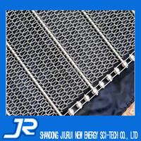 2015 China professional stainless steel 304 chain link spiral grid conveyor belt wire mesh