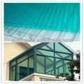 Grass Green PC Twin wall Polycarbonate Hollow Decorative Sheet