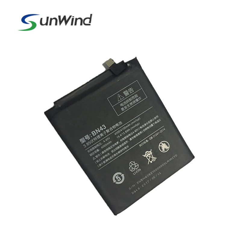 Factory OEM Li-ion Battery, Mobile Phone Battery for Xiaomi Redmi Note 4X 3.85v 4000mah Hongmi BN43 Battery