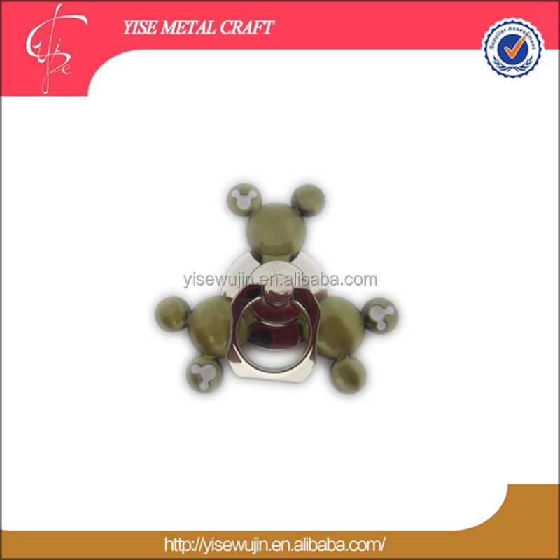 Gold Spinner Lovely Mickey Head Mobile Phone Holder Top Spinner Toy with Fast Rotating