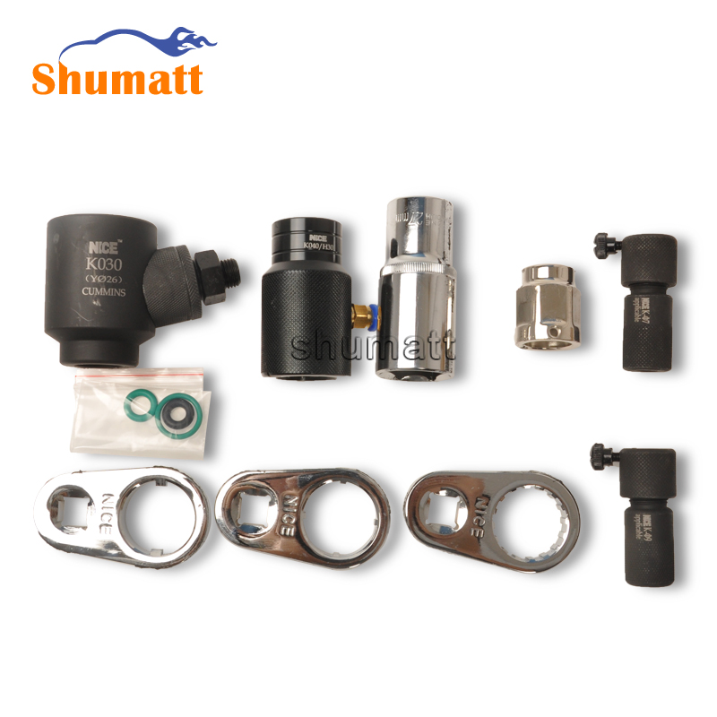 CUMMIN diesel engine CR <strong>injector</strong> disassembly assembly tool Solenoid valve nozzle oil collector <strong>full</strong> set